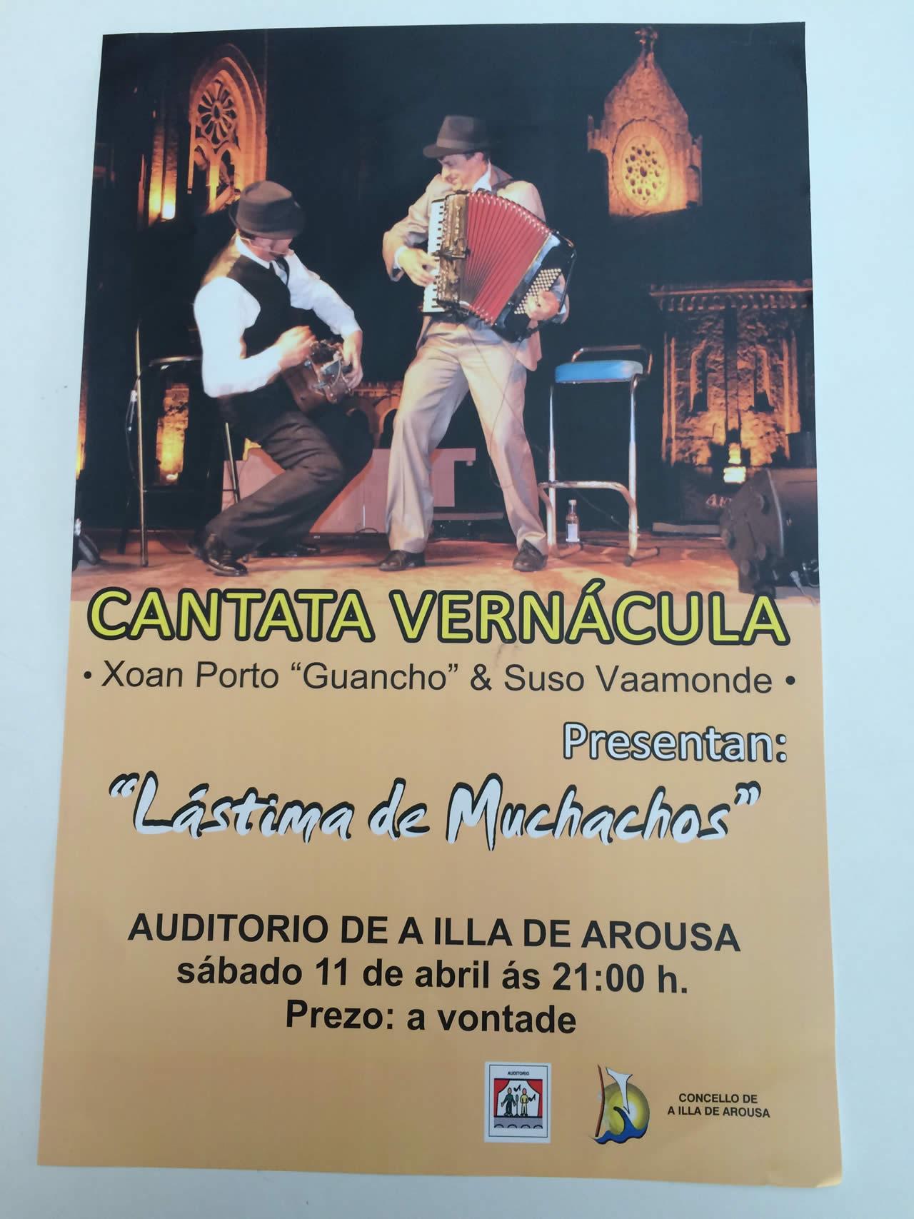 Actuación Cantata Vernácula no Auditorio da Illa de Arousa
