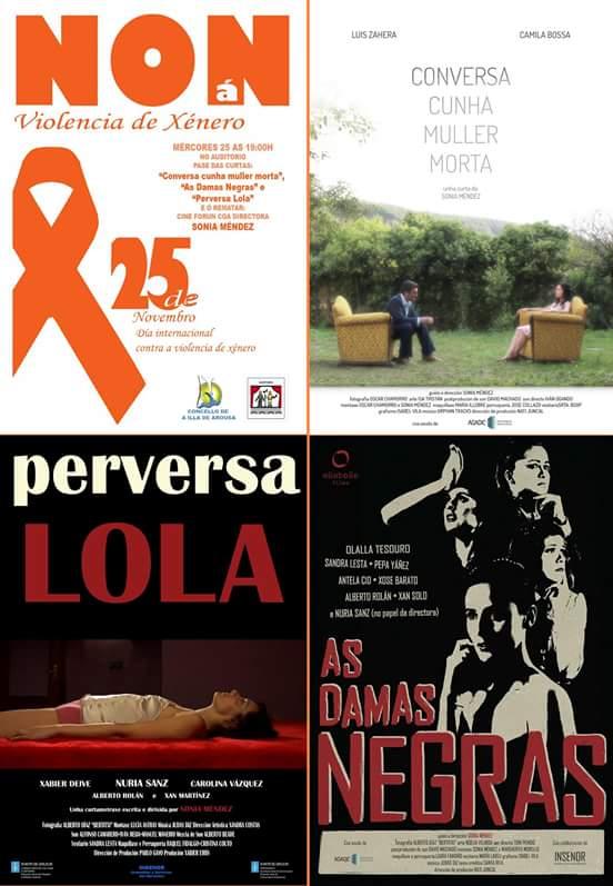 "Proxección de curtametraxes no ""Día Internacional contra a violencia de xénero"""
