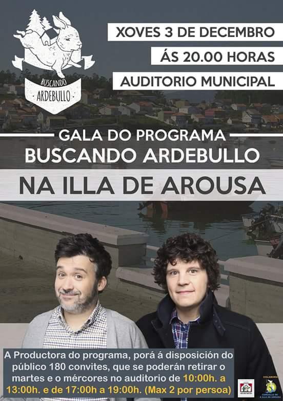"""Gala do programa """"Buscando Ardebullo"""" na Illa de Arousa"""
