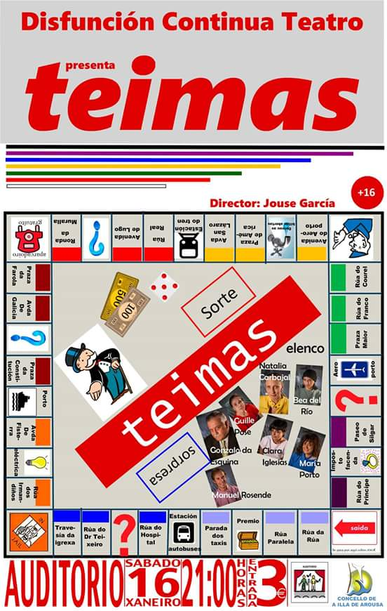 """Disfunción Continua Teatro presenta a obra """"TEIMAS"""""""