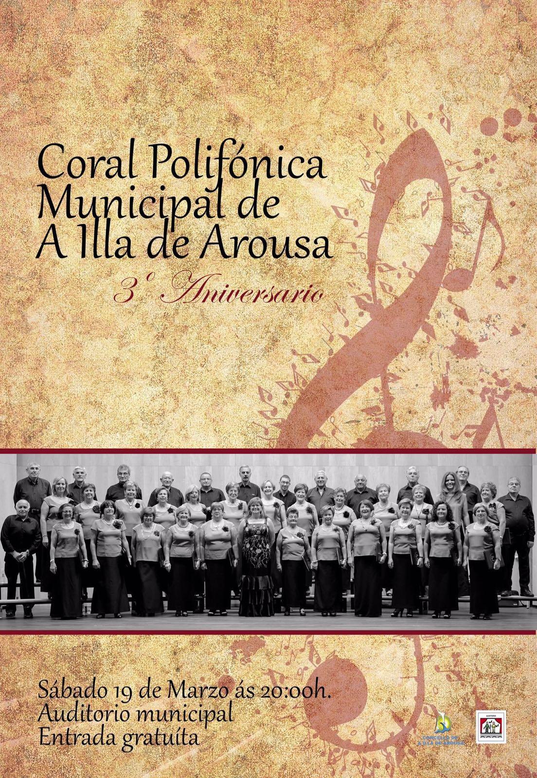 3º ANIVERSARIO DA CORAL POLIFÓNICA MUNICIPAL DE A ILLA DE AROUSA