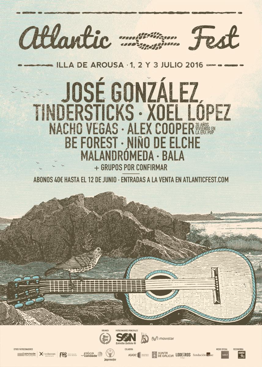 José González, Malandrómeda e Bala novas confirmacións do Atlantic Fest