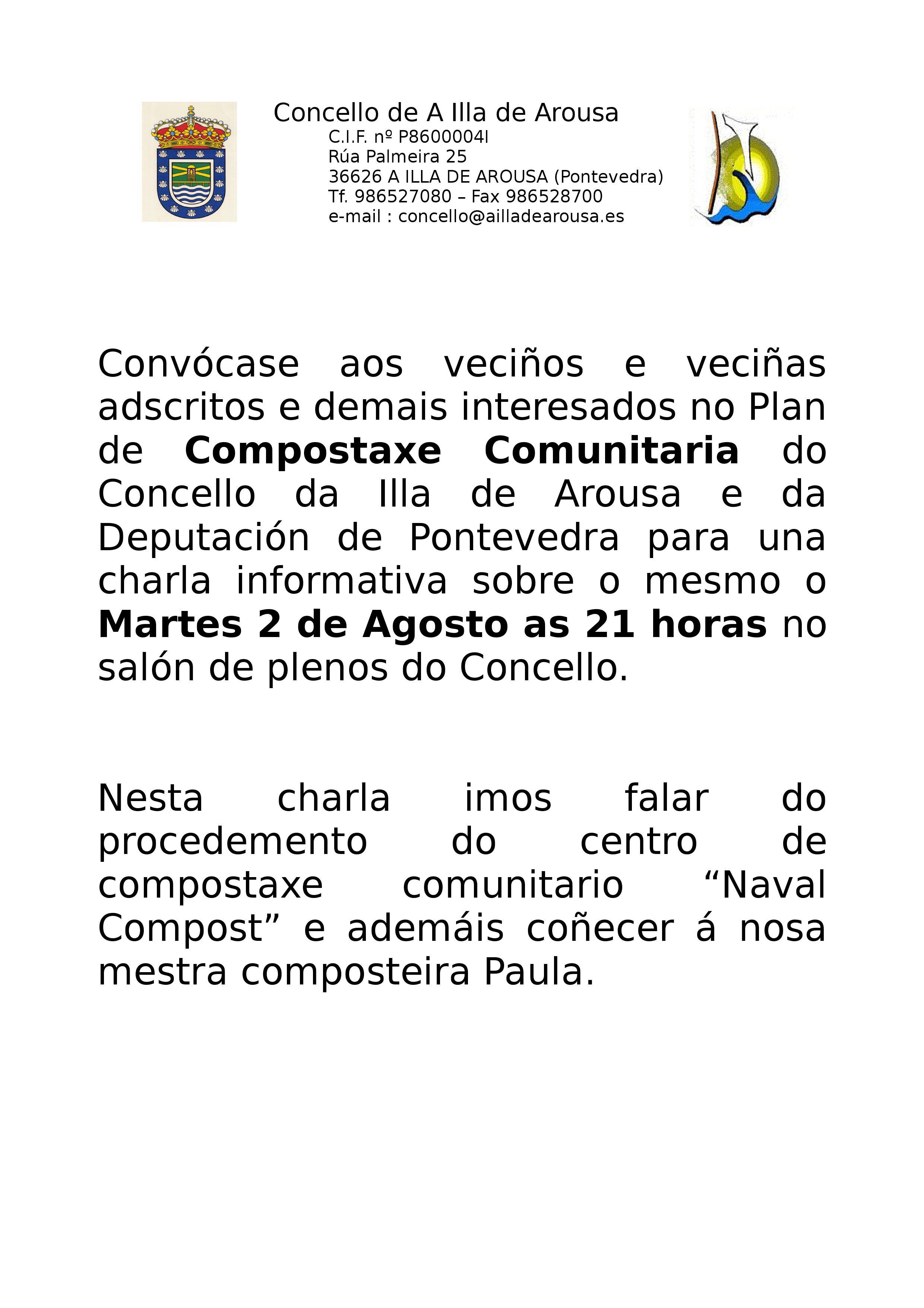 CHARLA INFORMATIVA COMPOSTAXE COMUNITARIO