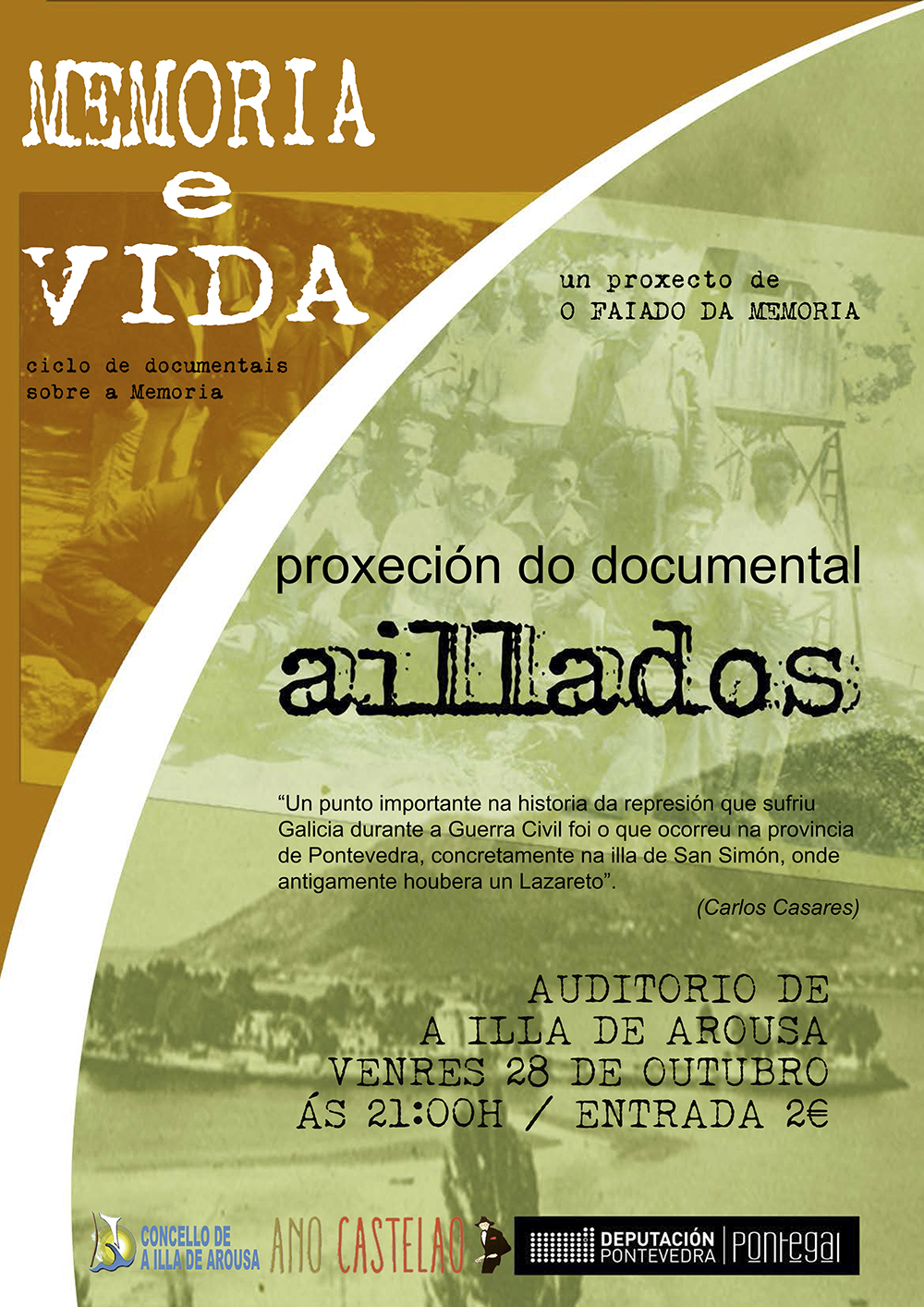 "Proxección do documental ""AILLADOS"""