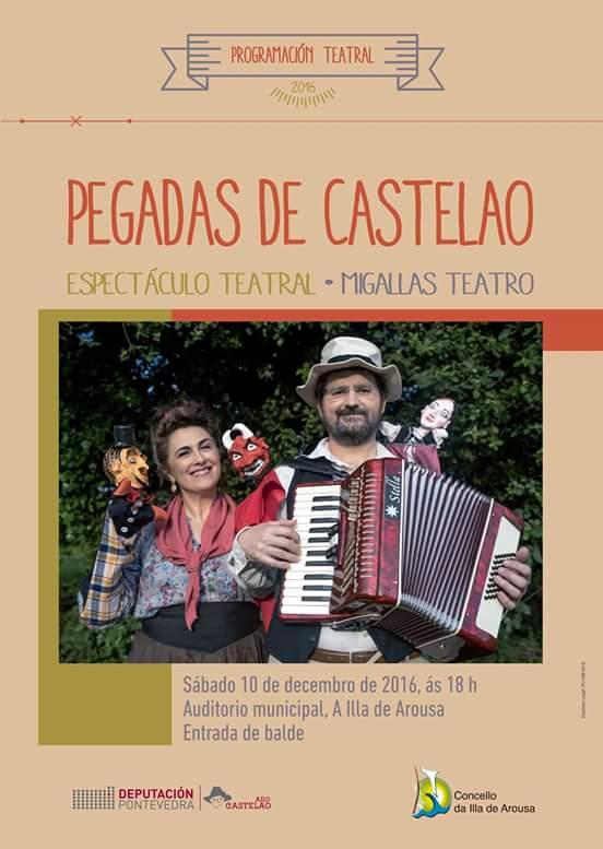 """Espectáculo teatral """"PEGADAS DE CASTELAO"""""""