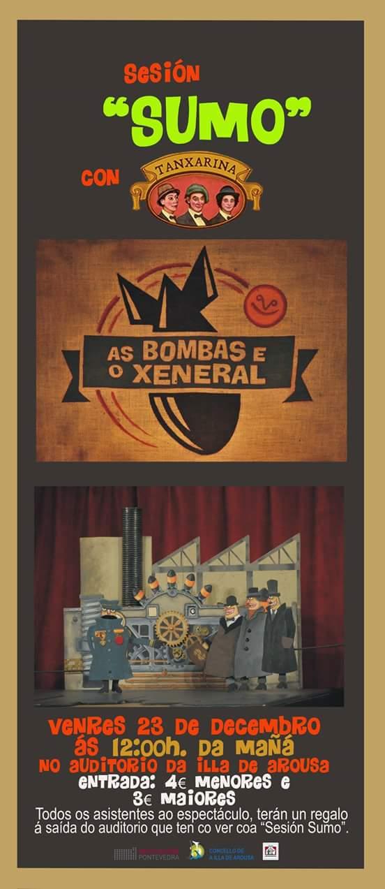 """Espectáculo de títeres """"As bombas e o xeneral"""""""