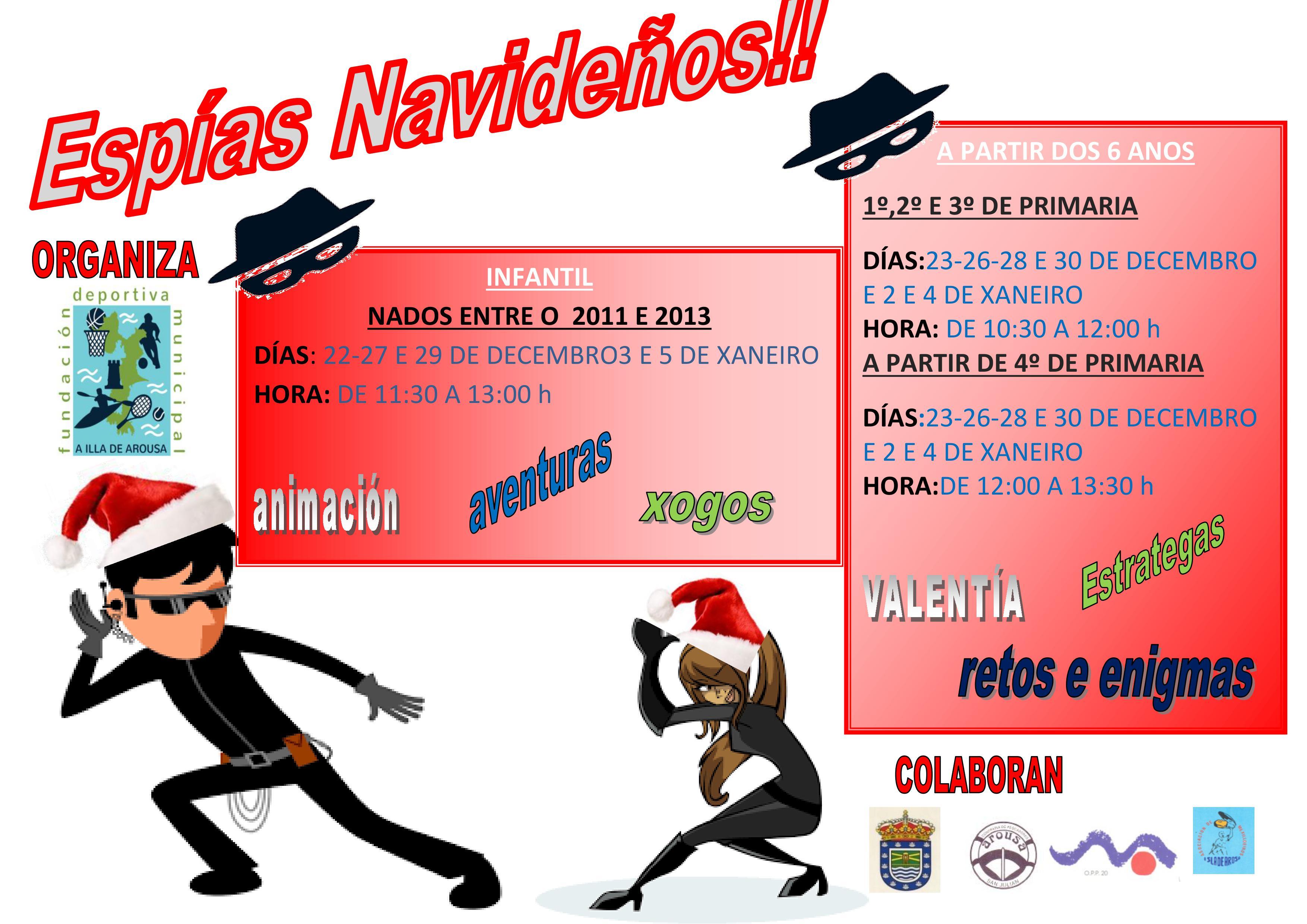 ACTIVIDADES DEPORTIVAS DE NADAL (ESPÍAS NAVIDEÑOS)