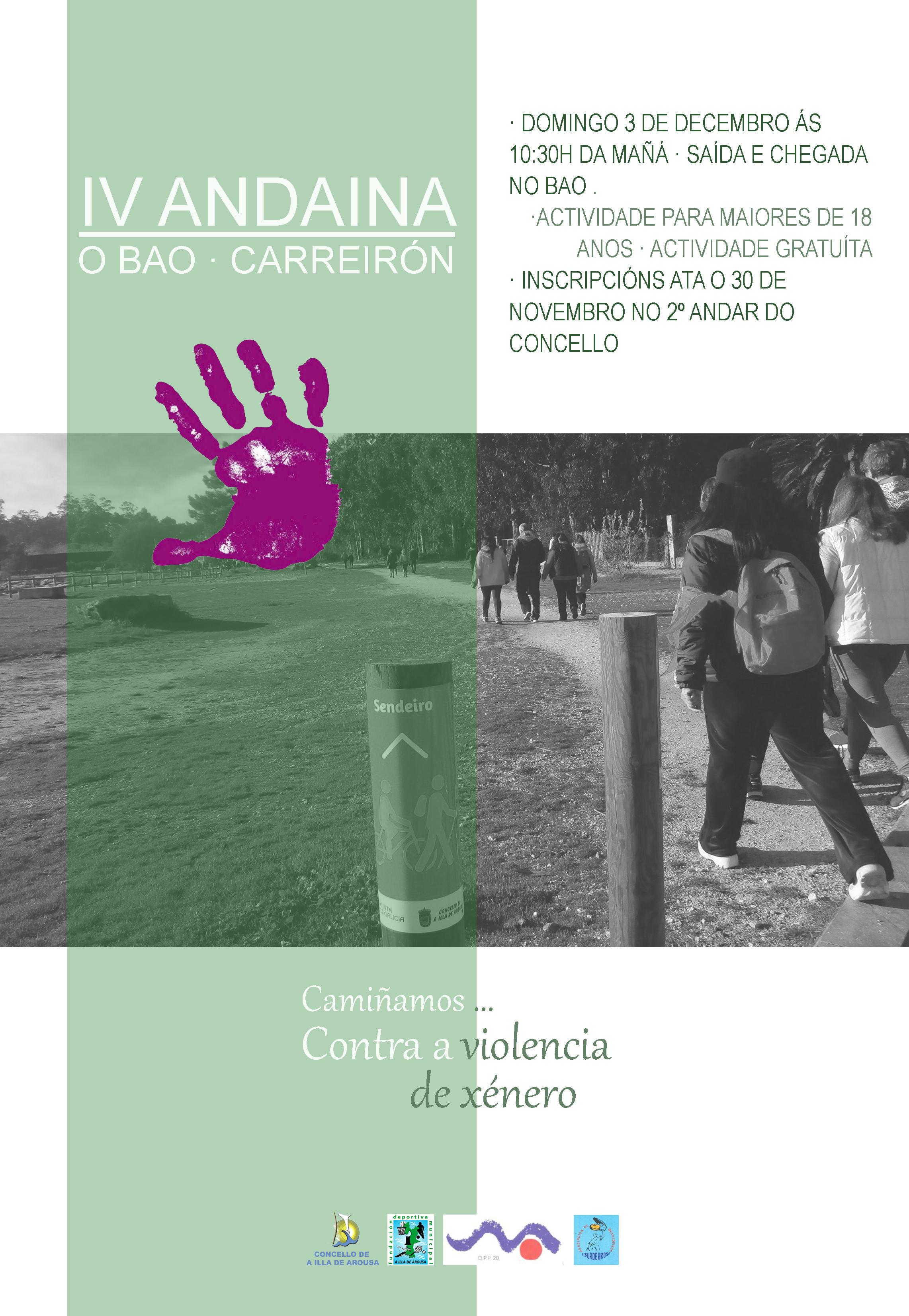 """IV ANADAINA O  BAO – CARREIRÓN + SESIÓN TONIFICACIÓN """"CAMIÑAMOS…CONTRA A VIOLENCIA DE XÉNERO"""""""