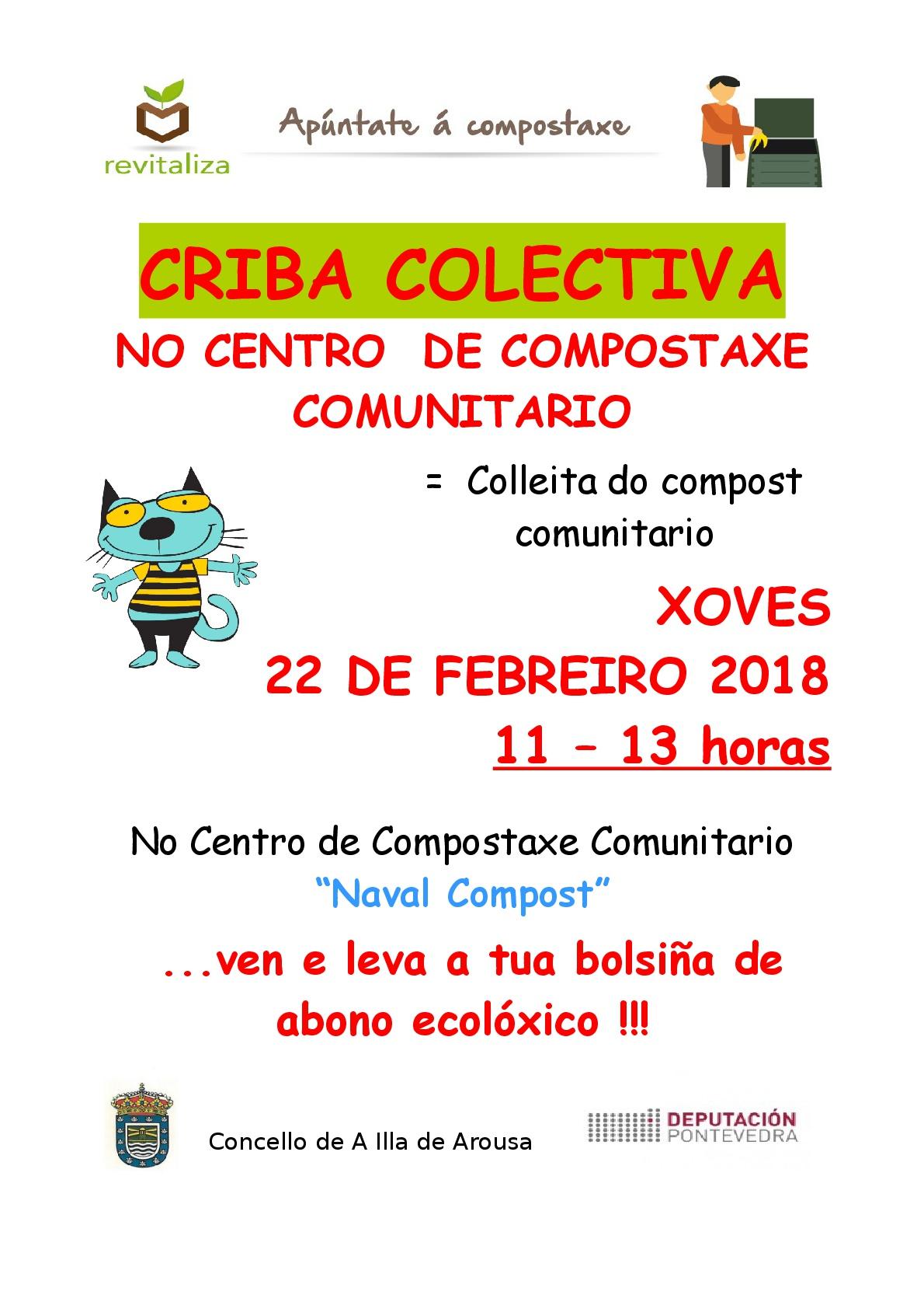 CRIBA COLECTIVA NO CENTRO DE COMPOSTAXE COMUNITARIO