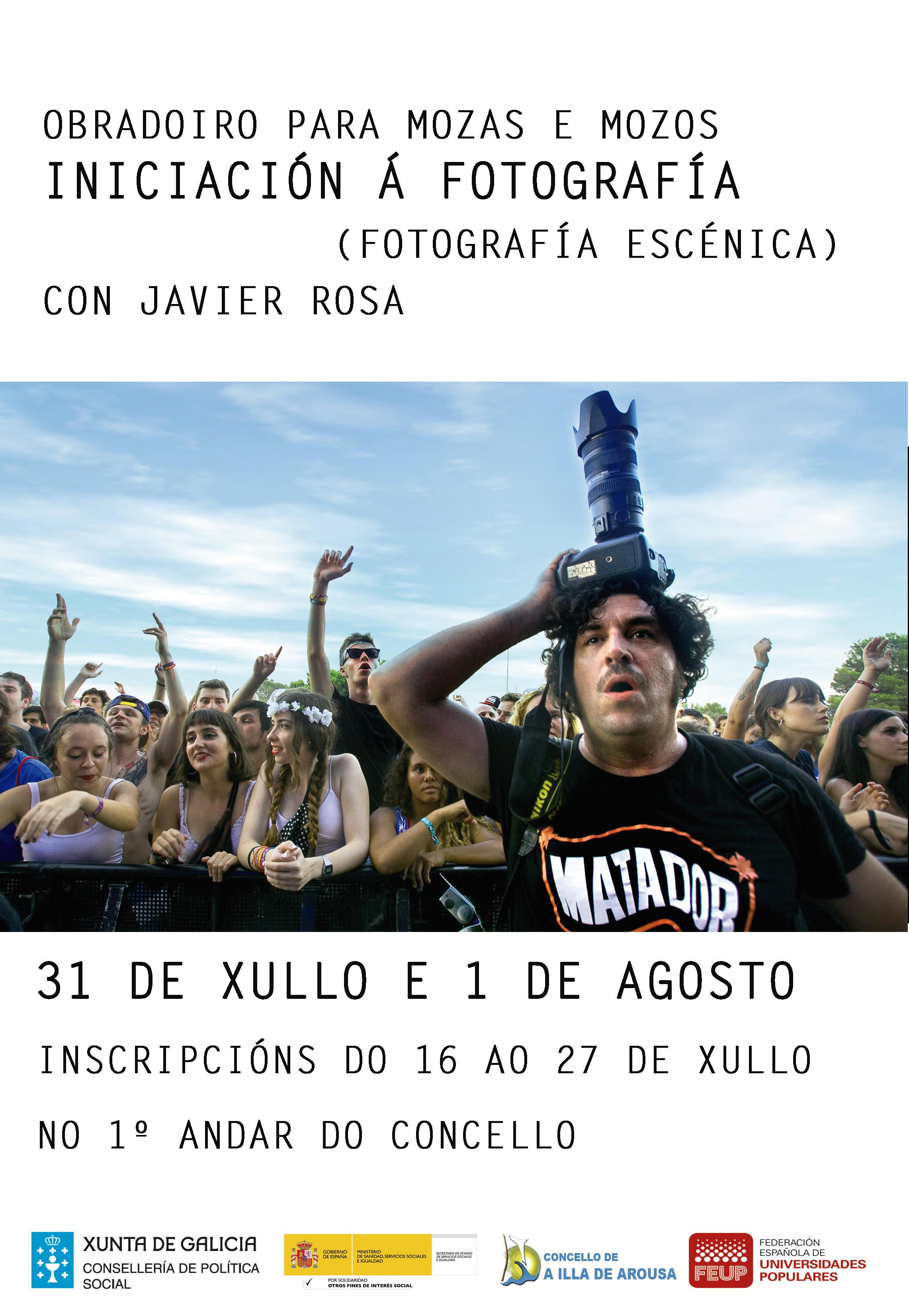 OBRADOIRO DE FOTOGRAFÍA (FOTOGRAFÍA ESCÉNICA) CON JAVIER ROSA