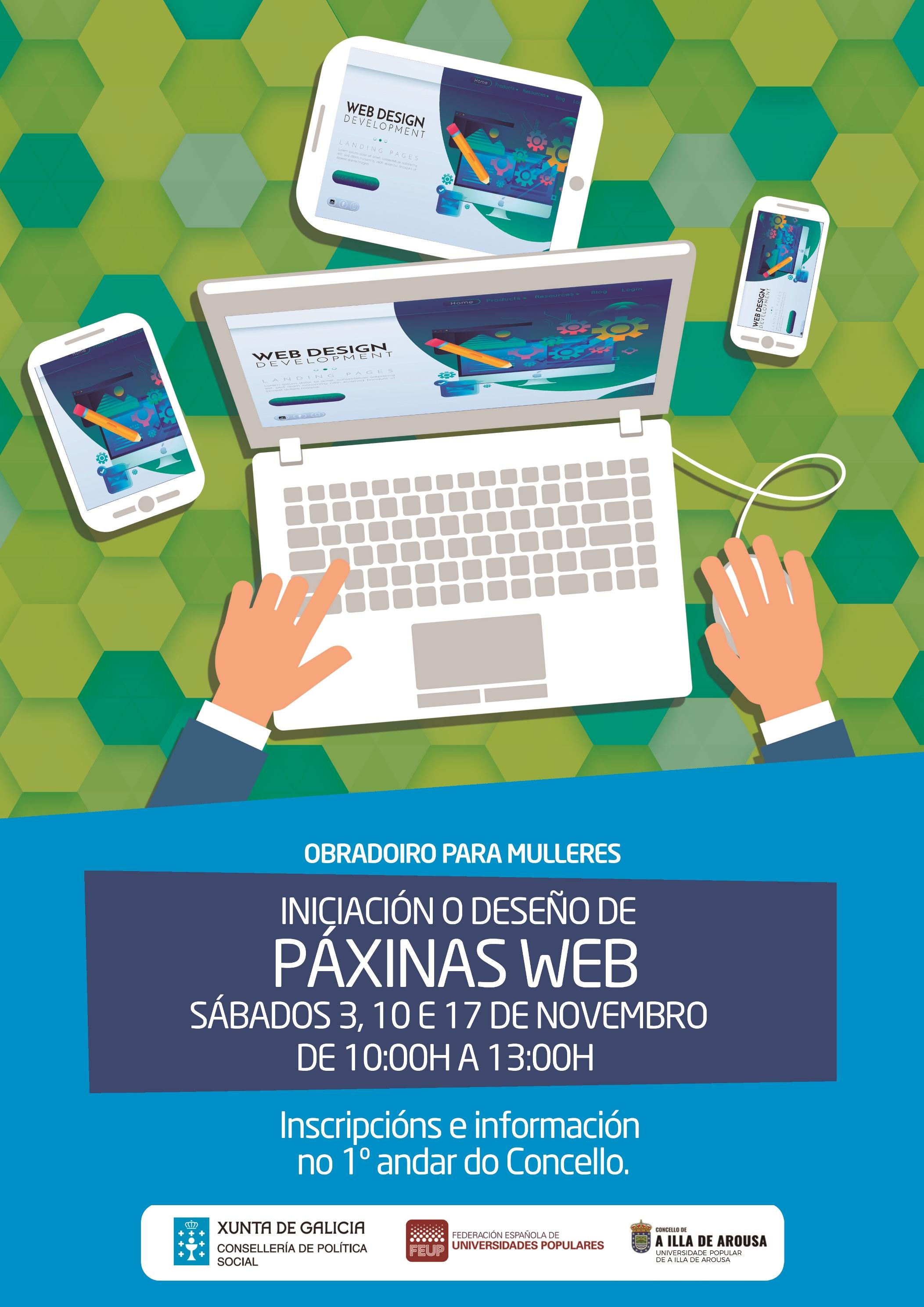 OBRADOIRO PARA MULLERES. INICIACIÓN E DESEÑO DE PÁXINAS WEB