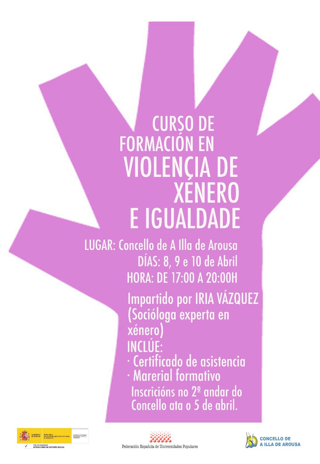 Curso de formación en Violencia de xénero e Igualdade