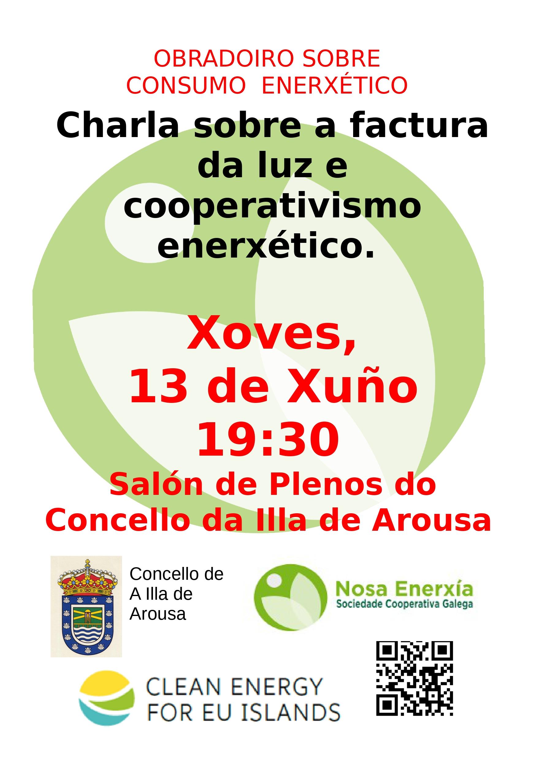 CHARLA SOBRE A FACTURA DA LUZ E COOPERATIVISMO ENERXÉTICO
