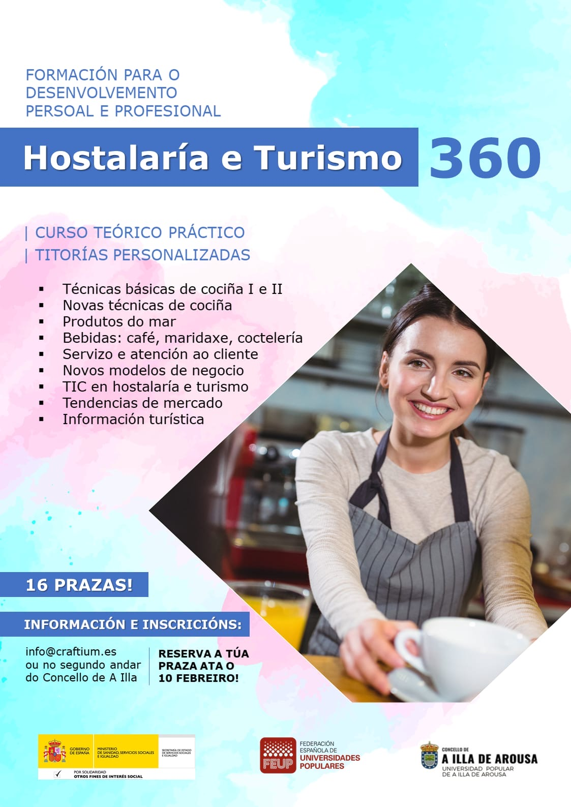 CURSO DE HOSTALARÍA E TURISMO