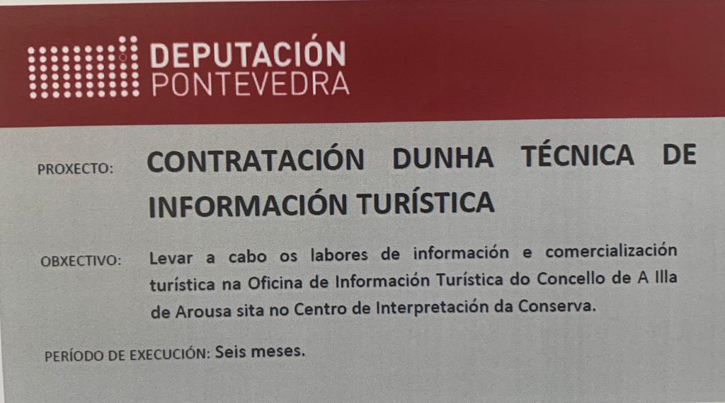 CONTRATACIÓN DUNHA TÉCNICA DE INFORMACIÓN TURÍSTICA