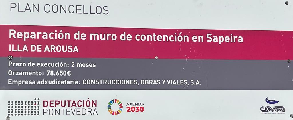 REPARACIÓN DE MURO DE CONTENCIÓN EN SAPEIRA