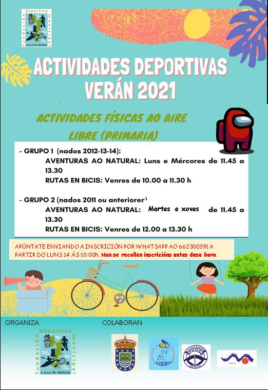 ACTIVIDADES DEPORTIVAS VERÁN 2021